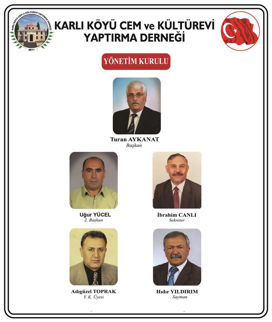 Karlı Koyu cemevi Yeni Yönetim Kurulu